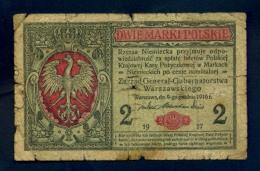 Banconota Polonia 2 MARKI 1917 MB - Polonia