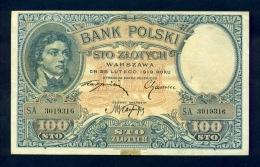 Banconota Polonia 100 Sto Zlotych 1919 SPL - Poland