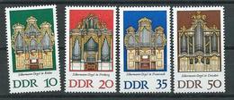 DDR 1976  Mi 2111 - 2114  Silbermann-Orgeln