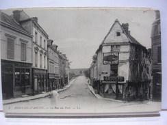 27 - PONT DE L'ARCHE - LA RUE DU PONT - ANIMEE - 1918 - Pont-de-l'Arche