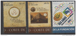 EL SALVADOR 2015, MNH, POST OFFICE, ACCOUNTING COURT, 3V - Post