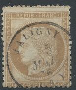 Lot N°35057  Variété/n°55, Oblit Cachet à Date De JALIGNY (3), Ind 6, Tache Blanche Face Au Menton, Filet EST
