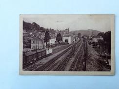 C.P.A. 47 PORT SAINTE-MARIE : La Gare Et La Ligne Du Midi Vers Sète, En 1952 - Autres Communes