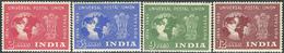 India 1949. Michel #207/10 MNH. 75 Jahre Weltpostverein. (Ts15) - Neufs