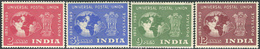 India 1949. Michel #207/10 MNH. 75 Jahre Weltpostverein. (Ts15) - 1947-49 Dominion