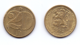 Czechoslovakia 20 Haleru 1982 - Tschechoslowakei