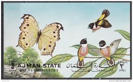 Aiman Farfalle Ed Uccelli Butterflies And Birds Foglietto Non Perforato Nuovo Preobliterato