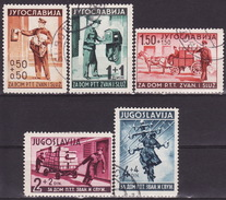 Yugoslavia Kingdom 1940 Mi#408-412 Fine Used, - 1931-1941 Royaume De Yougoslavie