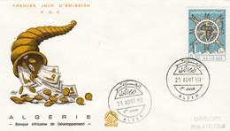 Algérie FDC 1969 - Yvert 499 - Banque Africaine De Développement Illustration 2 - Algeria (1962-...)