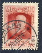 Liechtenstein 1929 N. 91 R. 20 Francesco I Usato Cat. € 7,25 - Liechtenstein