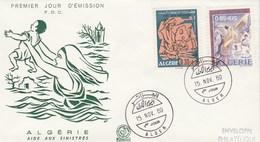 Algérie FDC 1969 - Yvert 501 Et 502 Aide Aux Sinistrés Inondations Illustration 2 - Algérie (1962-...)