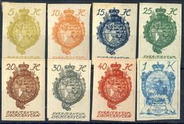 Liechtenstein 1920 Serie N. 17-24 Stemmi E Vedute MLH Cat. € 9,50 - Liechtenstein
