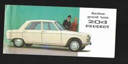 Plaquette 204 Peugeot Berline Grand Luxe  Et Break 1965 Delaporte Paris - Publicités