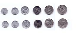 Czech Republic 6 Coins Lot 1993 - Tchéquie