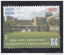 INDIA. 2016, AIIMS, All India Institute Of Medical Sciences, Health, Architecture, MNH, (**)