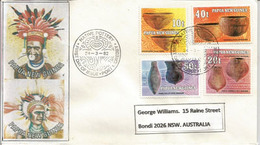 PAPOUASIE.Poteries Et Artisinat De Papouasie, Belle Lettre De Port-Moresby Adressée Australie