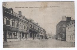 BELGIQUE PATURAGES La Maison Communale, Et La Rue Du Commerce - Colfontaine