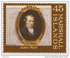 James Watt, Mechanical Engineer, Steam Engine, Railway, Transport MNH Marshall Islands