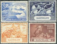 Basutoland 1949. Michel #41/44 VF/MNH. 75 Jahre Weltpostverein. (Ts15) - Basutoland (1933-1966)