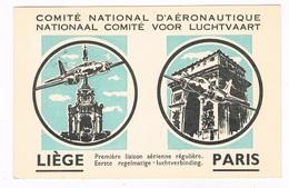 B-6217   LIEGE :t: Eerste Regelmatige Luchtverbing Luik-Parijs ( Sabena)