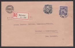 SVERIGE Mariestad R-Brief Nach Freital-Potschappel Tyskland 1928, INICA - Lettres & Documents