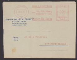 """Wiegekarten Werbung Düsseldorf """"Postwurfsendung Zu 001 RPf."""" An Alle Fabriken 1935"""
