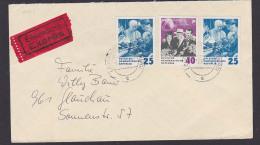 Nikita Chrutschtschow 70. Geburtstag, Mit Gagarin Und Tereschkowa, Eilsendung Aus Leuna, Portorgenau Doppelbrief - DDR