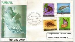 Le Dugong Et Faune De Papouasie, Belle Lettre De Port-Moresby Adressée Australie