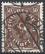 Germania  - 1922-23 Corno Di Posta Monocolore, 30m Bruno F. 2 # Michel 231 - Scott 192 - Unificato 212 -  Usato