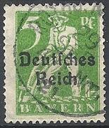 Germania  - 1920 F.llo Di Bayern Soprastampato 5p Verde # Michel 119 - Scott (Bayern) 256 - Unificato 220 - Usato