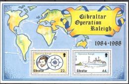 Gibraltar 1988 Operation Raleigh, Ship, Sir Walter Raleigh, Mi Bloc 11, MNH(**)