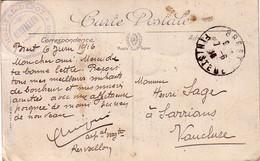 FINISTERE - HOPITAL-DEPOT *CONVALESCENTS* KERVALLON - 7 JUIN 1916 - DEUXIEME ESCADRILLE.