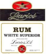 407 - Espagne - Rum White Superior - Especial Para Cocktails - Larios S.A. Malaga - - Rhum