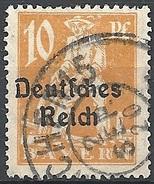 Germania  - 1920 F.llo Di Bayern Soprastampato 10p Arancio  Michel 120 - Scott (Bayern) 257 - Unificato 221 - Usato