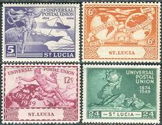 St. Lucia 1949. Michel #134/37 MNH. 75 Jahre Weltpostverein. (Ts15) - St.Lucia (...-1978)