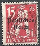 Germania  - 1920 F.llo Di Bayern Soprastampato 15p Rosso # Michel 121 - Scott (Bayern) 258 - Unificato 222 - Usato