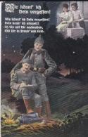 Feldpost WW1: Postcard Soldiers Writing Home  From The Front At Aisne, France - I. Abteilung, Reserve Feldartillerie Reg