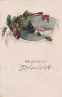 Feldpost WW1: Christmas Postcard From POW Guard In Zweig-Gefangenenlager Meyenburg P/m Blumenthal 22.12.1917  (T8A18)