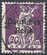 Germania  - 1920 F.llo Di Bayern Soprastampato 20p Lilla #Michel 122 - Scott (Bayern) 259 - Unificato 223 - Usato