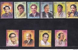 INDIA, 2016, Legendary Singers Of India,  Set 10 V, MNH, (**)