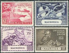Mauritius 1949. Michel #223/26 VF/MNH. 75 Jahre Weltpostverein. (Ts15) - Mauritius (...-1967)