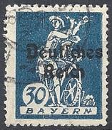 Germania  - 1920 F.llo Di Bayern Soprastampato 30p Oltremare # Michel 123 - Scott (Bayern) 260 - Unificato 224 - Usato