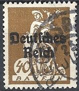 Germania  - 1920 F.llo Di Bayern Soprastampato 40p Bruno # Michel 124 - Scott (Bayern) 261 - Unificato 225 - Usato