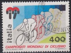 ITALIA - Valore Usato Di 400 Lire - Campionati Mondiali Di Ciclismo - 21.8.1985