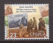 2016 STAMP DAY MILITARI KOENIG KING PETAR I WAR I  1914  SRBIJA SERBIA    MNH