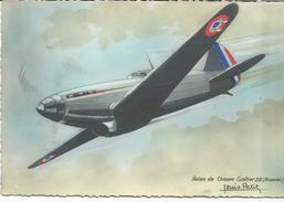 """AVION DE CHASSE  """" GALTIER """"30(Arsenal)  Carte Signée Louis PETIT - 1939-1945: 2ème Guerre"""