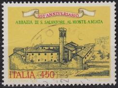 ITALIA - Valore Usato Di 450 Lire - 950° Anniversario Dell'Abbazia Di S. Salvatore Al Monte Amiata - 1.8.1985