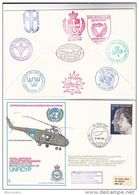 1972  UNFICYP Helicopter FLIGHT COVER With 9 Diff UN CONTINGENT CACHETS CYPRUS United Nations Forces Gb Aviation - Cyprus (Republic)