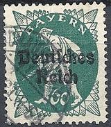 Germania  - 1920 F.llo Di Bayern Soprastampato 60p Verde Azz # Michel 126 - Scott (Bayern) 263 - Unificato 227 - Usato