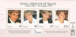 Tonga MNH Diana's Death SS